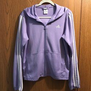 Adidas Lilac Zipper Hoodie
